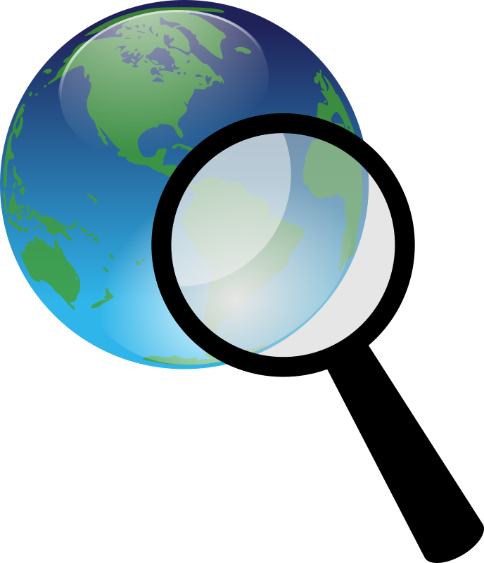 Earth and magnify glass by kuba