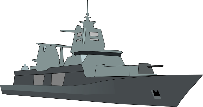German Bundeswehr frigate by JPortugall - simple drawing of a modern German navy frigate