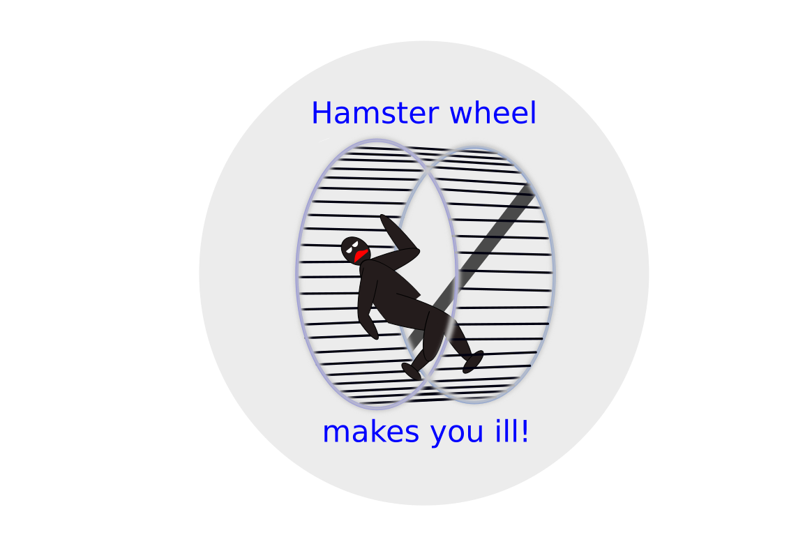 Hamster wheel by lusp - Care yourself!