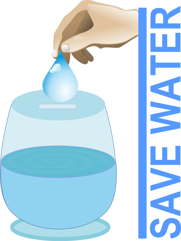 Save Water by gsagri04 - Save water save earth: Water drop from rg1024(http://openclipart.org/detail/20448/set-of-water-drops-by-rg1024) and hand clip art from Anonymous(http://openclipart.org/detail/25610/calligraphy-by-anonymous-25610)