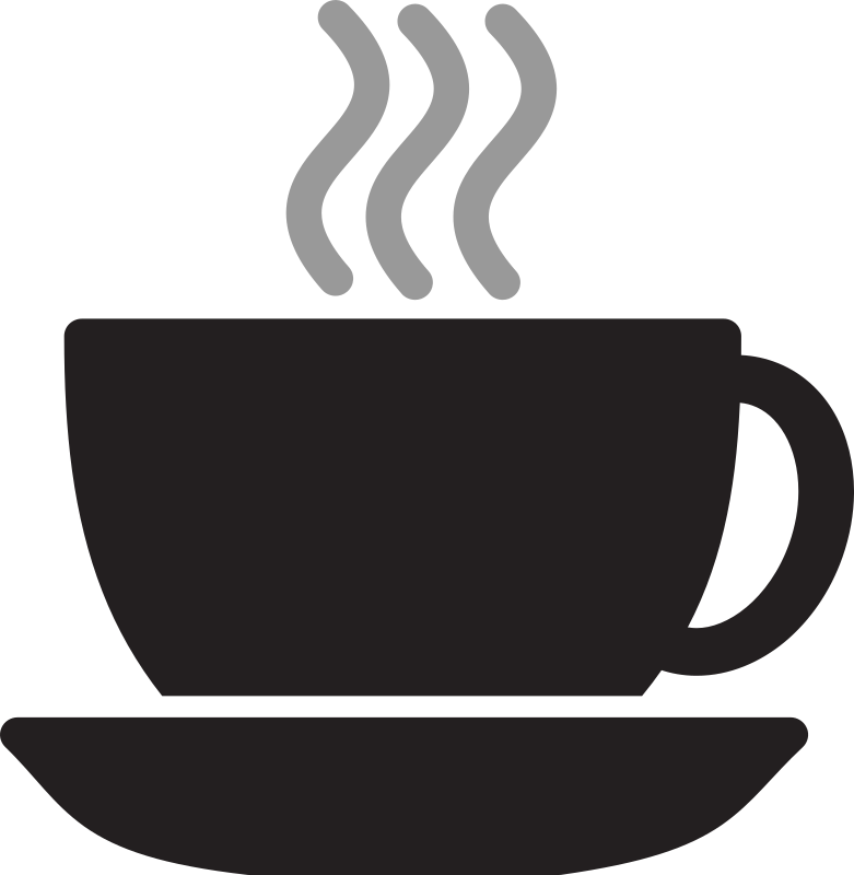 Kitchen Icon - Coffee Cup by StudioFibonacci - Coffee cup with steam.