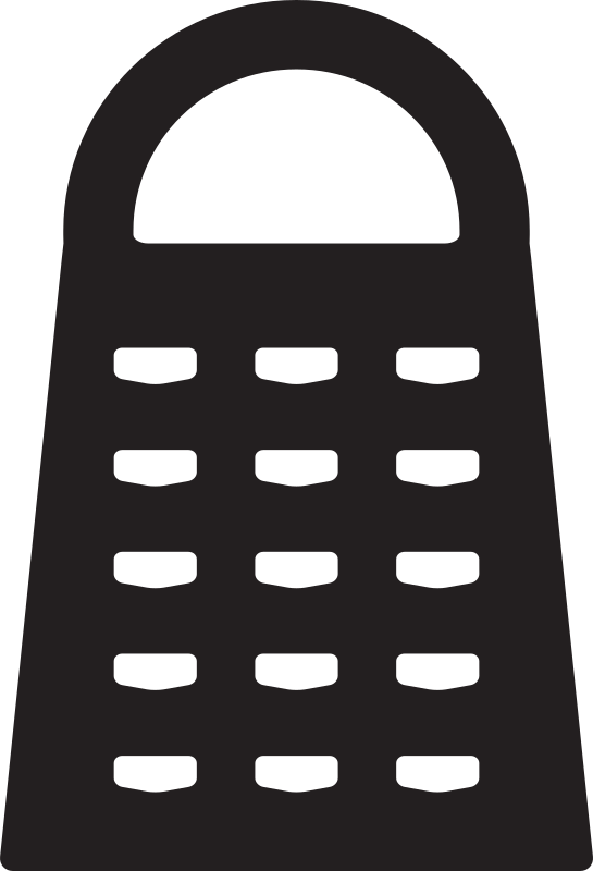 Clipart - Kitchen Icon - Grater