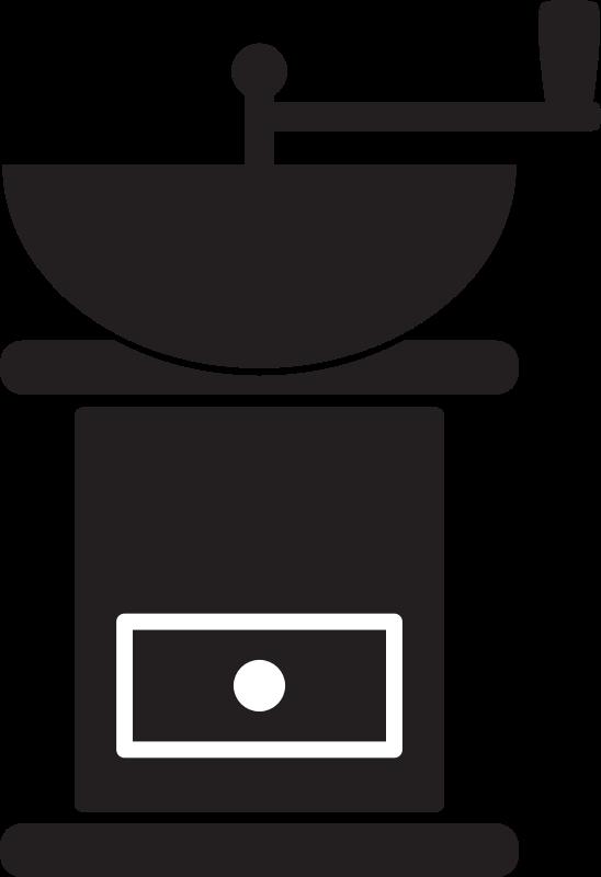 Clipart - Kitchen Icon - Coffee Grinder