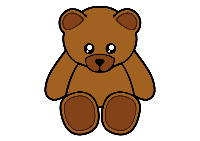 "Simple Teddy Bear by Gigglish - Cute teddy bear. Based on the G Simple Teddy Bear by Gerarld_G but made more symmetrical and given more ""anime"" style eyes, as well as a few other changes."