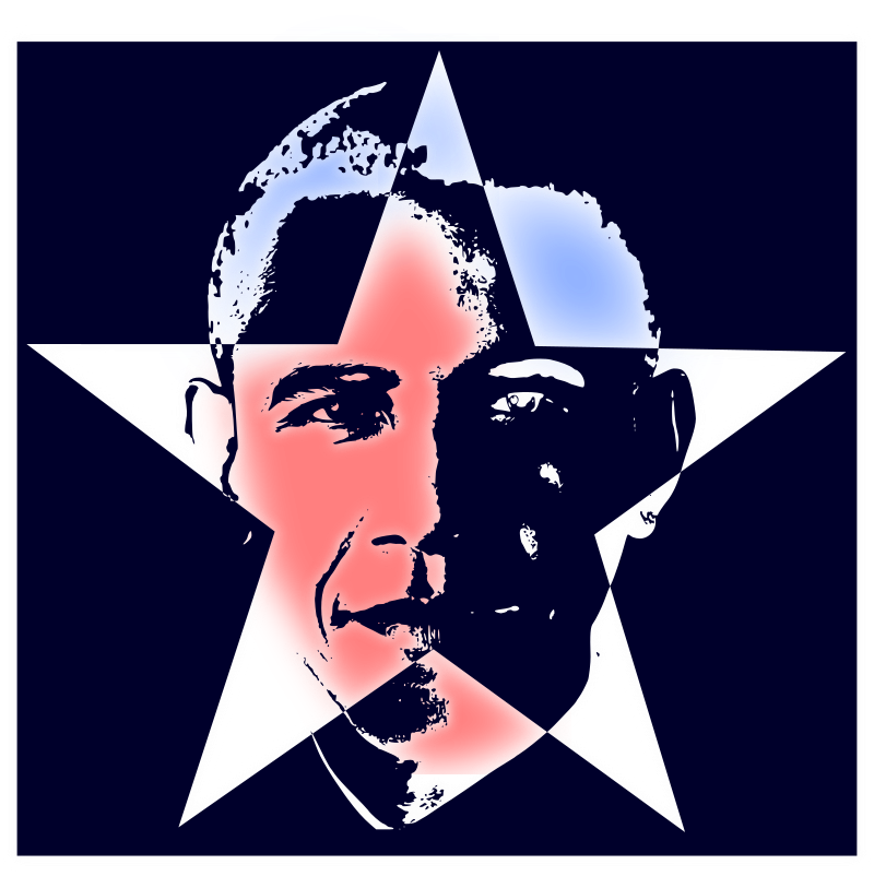 Obama by scyg - clip art, clipart, obama, presidents, star,