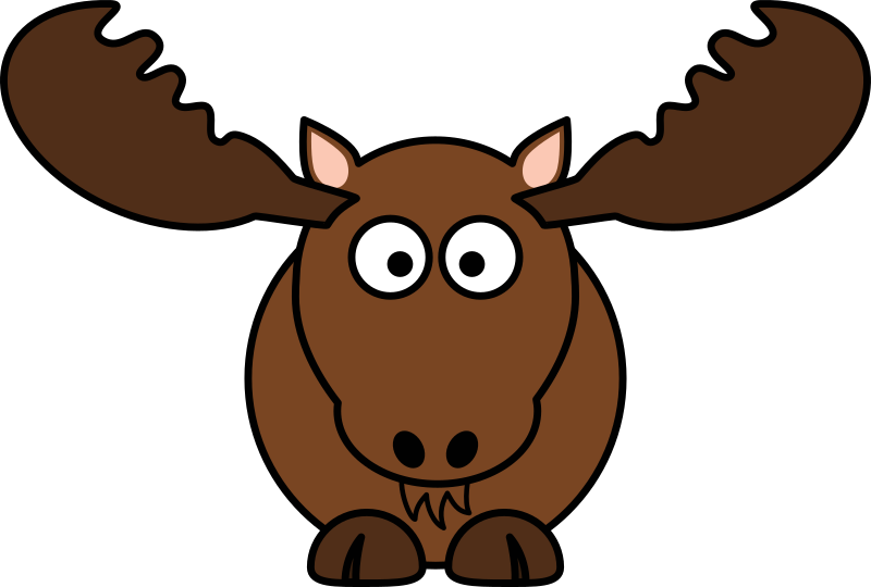 Cartoon Moose by StudioFibonacci - Cartoon moose (North ...