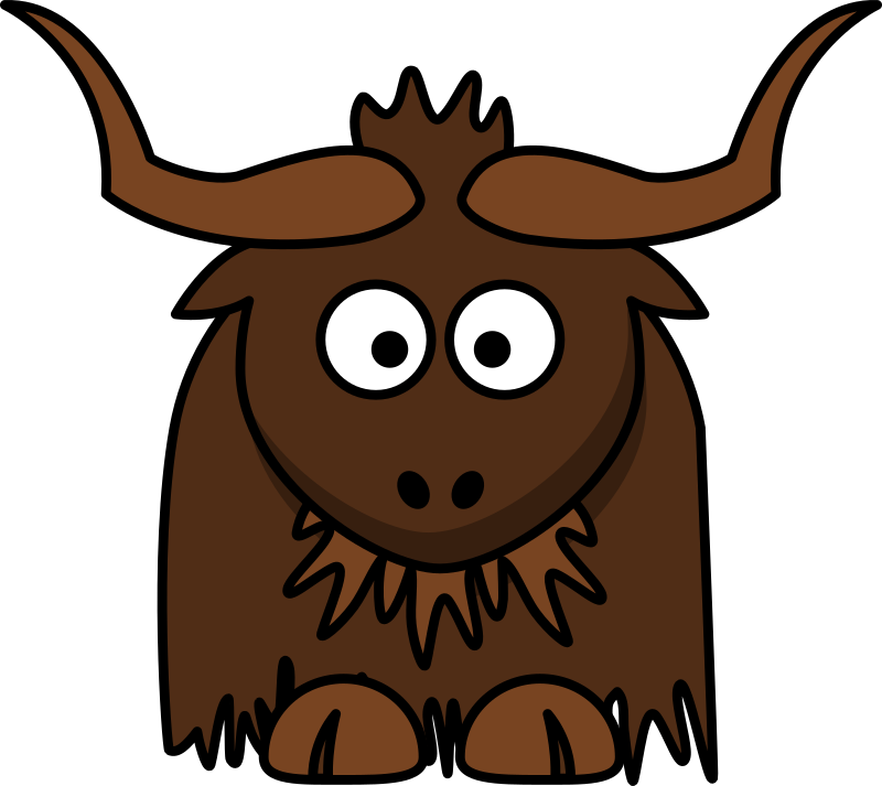 Cartoon Yak by StudioFibonacci - Cartoon Yak in the style of lemmling.