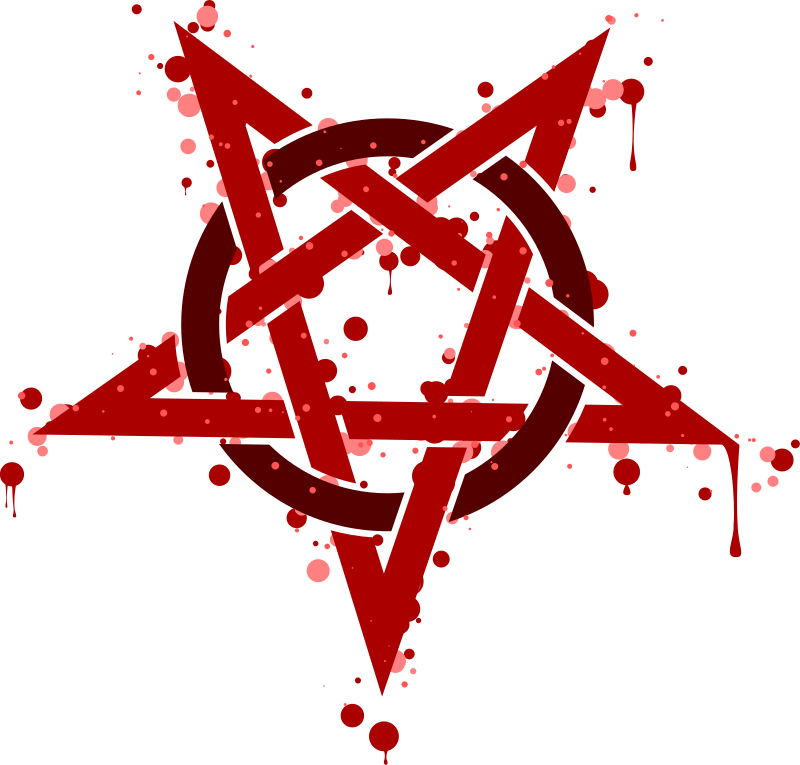 Pentagramme Taches Rouges by mathafix
