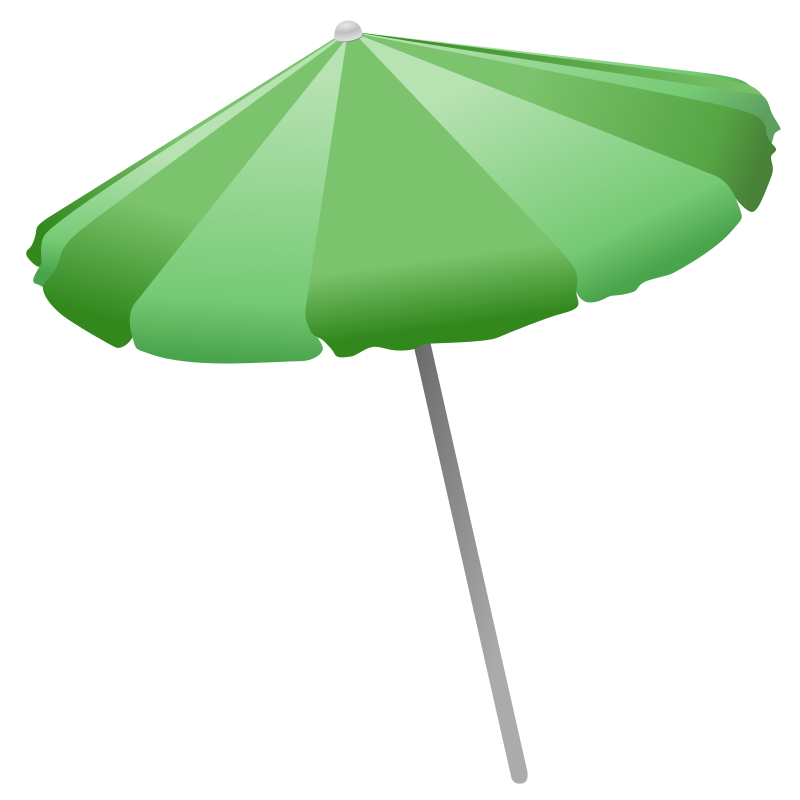 Beach Umbrella by Simanek - A simple umbrella for making shade while you're on the beach.