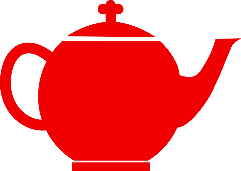Jubilee tea pot red by mr_johnnyp - silhouette of a tea pot