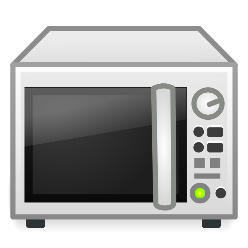 Microwave by b.gaultier - A microwave oven clipart influenced by Tango project guidelines