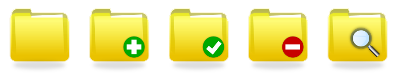 Yellow Folder Icons by Denis Dugonjic - Yellow icons for: