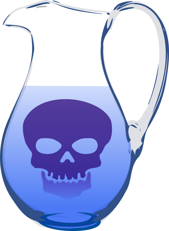 Water pollution by dominiquechappard - jug with venomous water