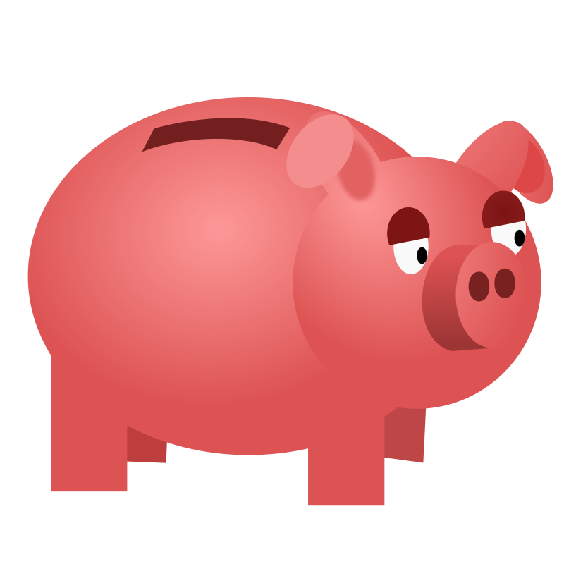 Piggy bank by vokimon - Cartoon look piggy bank.