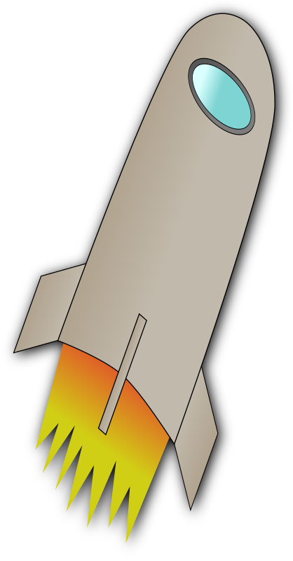 Space Rocket Whit Fire by samden - A simple rocket which I draw while following the tutorial at