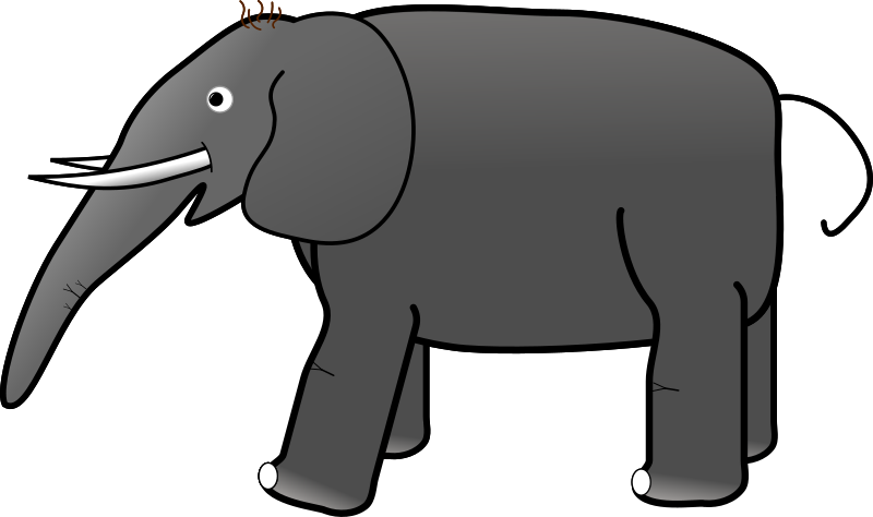 Grey Elephant by thatketoguy - A cartoon style elephant, facing left.