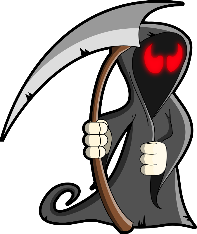 Grim Reaper by Sirrob01 - Cartoon doodle of the Grim Reaper or Death