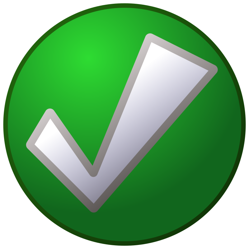 green_tick by jean_victor_balin - A green check mark.