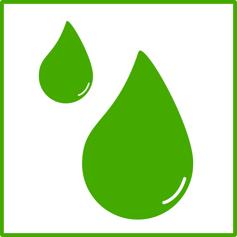 eco green drop of water icon by dominiquechappard - water ...