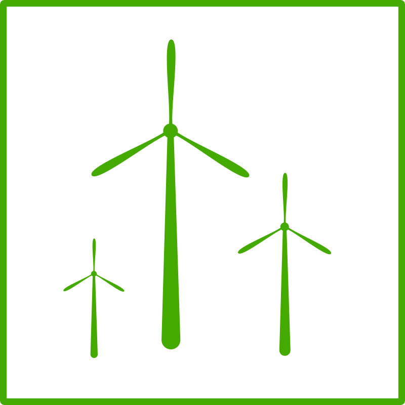 eco green windmill icon by dominiquechappard - powermill icon