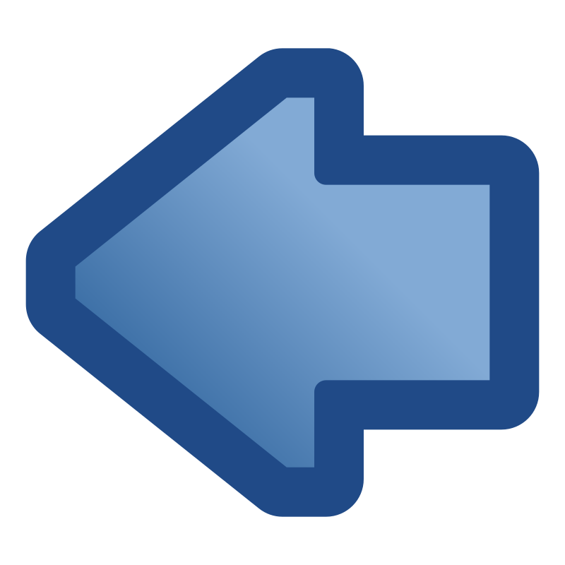 icon_arrow_left_blue by jean_victor_balin - A blue arrow icon pointing left.