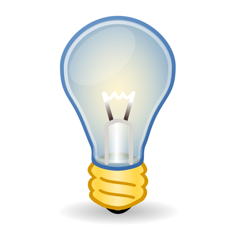 "Light Bulb by ali.alnasir - This icon is a remake of the light bulb described in Ryan Henningsen's post ""How to Create a Vector Light Bulb Icon with Inkscape"". ""http://vector.tutsplus.com/tutorials/illustration/how-to-create-a-vector-light-bulb-icon-with-inkscape/"""