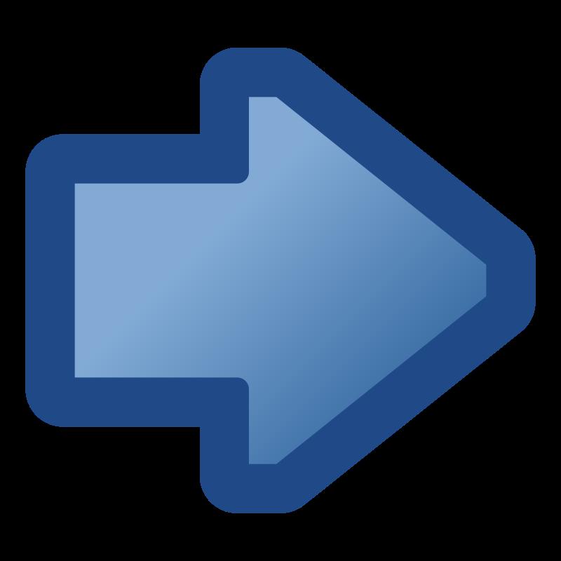 Clipart Icon Arrow Right Blue