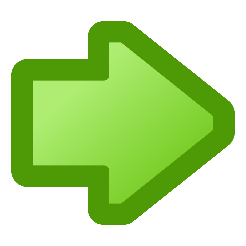 icon_arrow_right_green by jean_victor_balin - A green arrow icon pointing right.