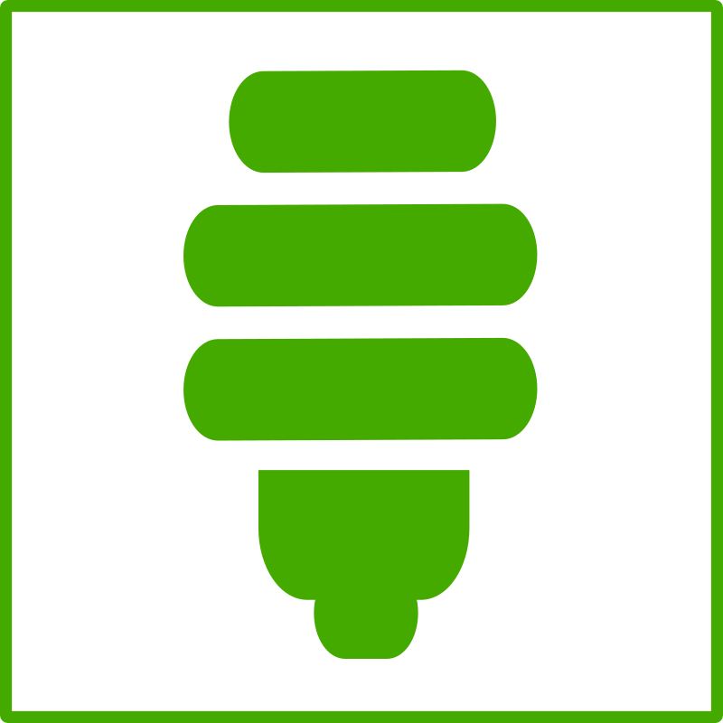 eco green light bulb icon by dominiquechappard