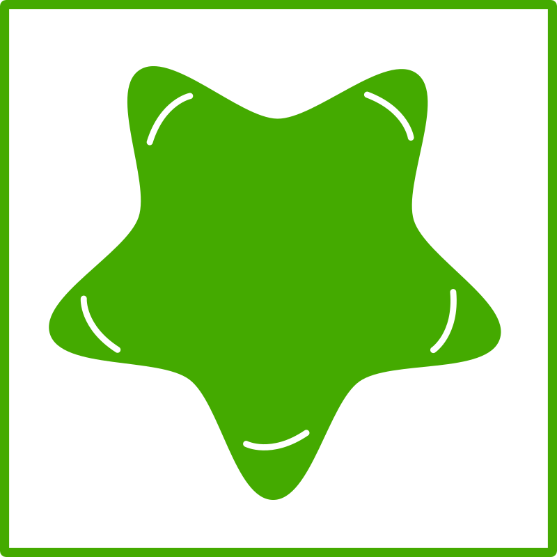 eco green star icon by dominiquechappard -