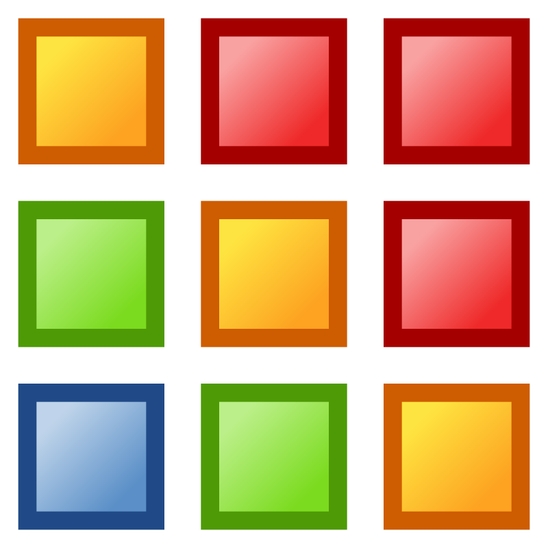 icon_colors by jean_victor_balin - Colorful squares matrix icons.