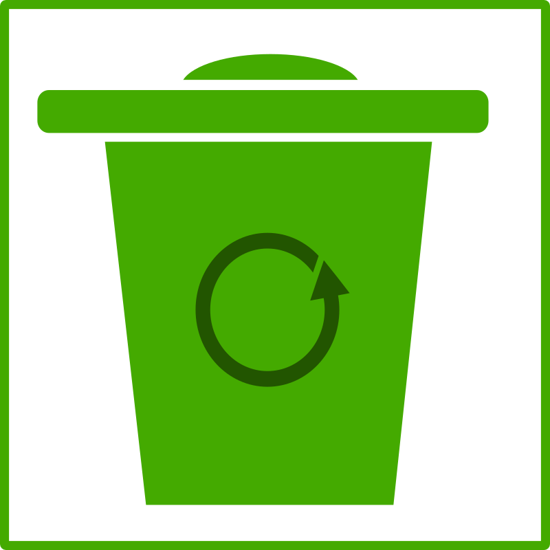 eco green trash icon by dominiquechappard - trash icon