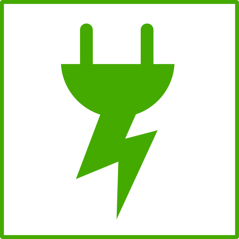 eco green energy icon by dominiquechappard - plug icon