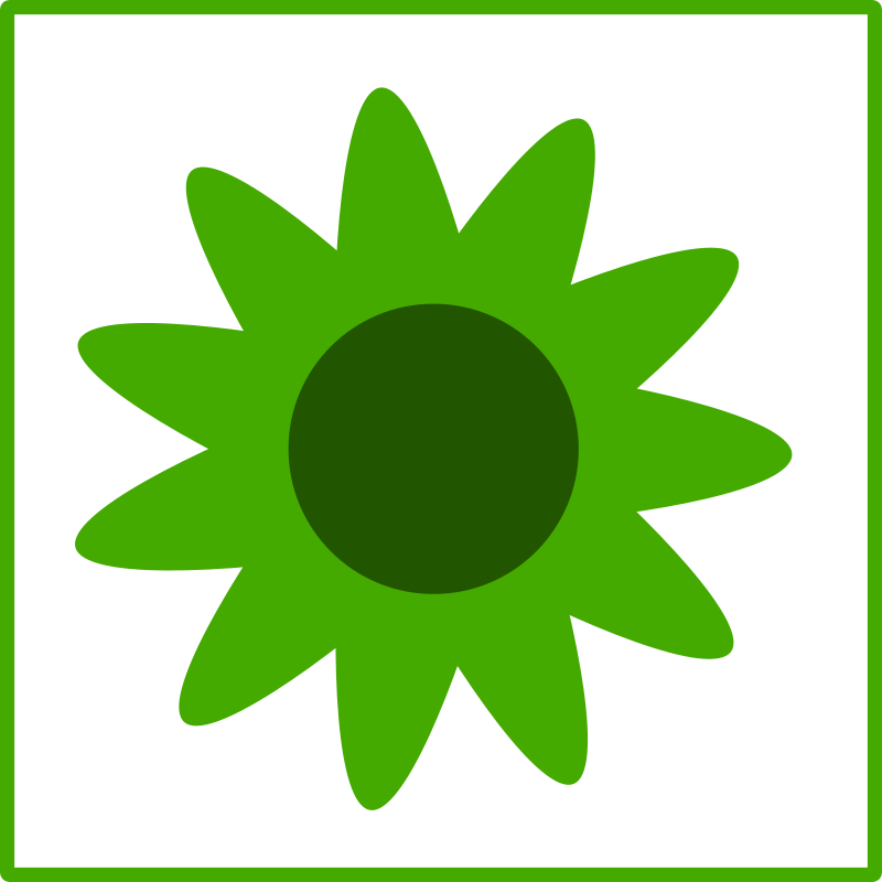 eco green  flower icon by dominiquechappard