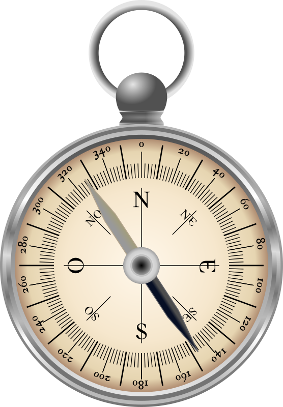 Compass by conte magnus - A simple magnetic pocket compass