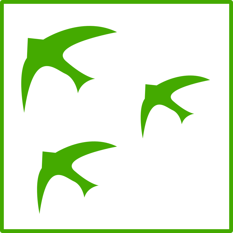 eco green  birds icon  by dominiquechappard -
