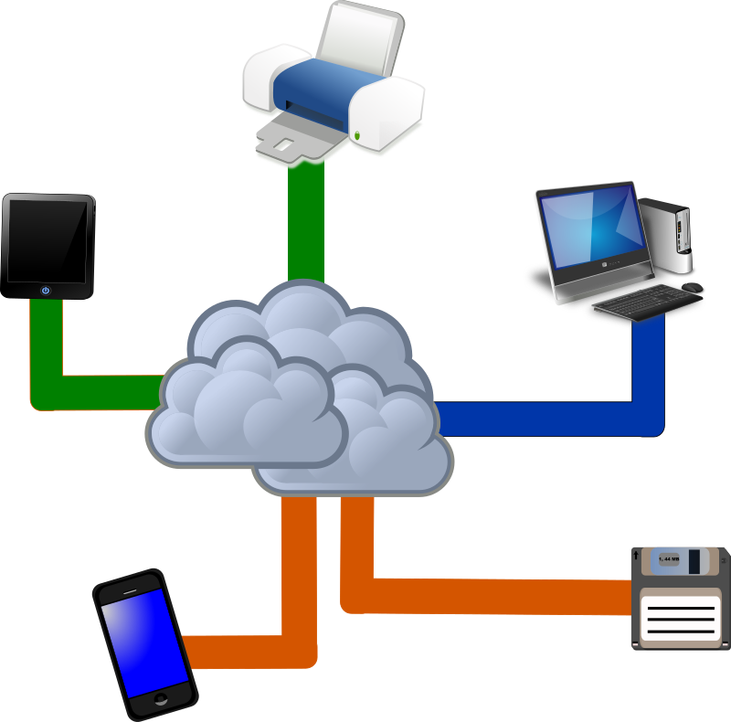 Clipart - Cloud computing
