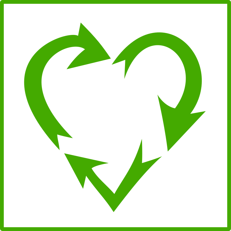 eco green love recycle icon by dominiquechappard - love recycling icon
