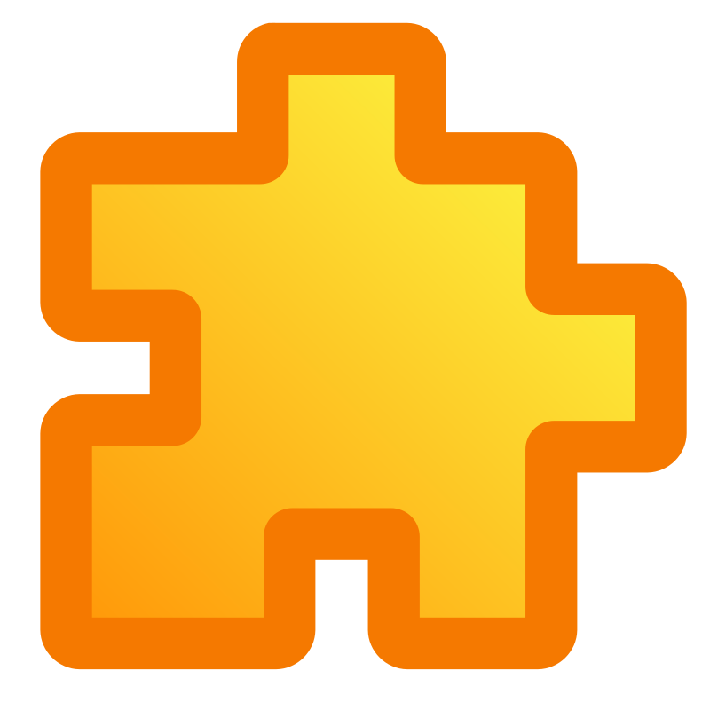 icon_puzzle_yellow by jean_victor_balin - A yellow puzzle piece.