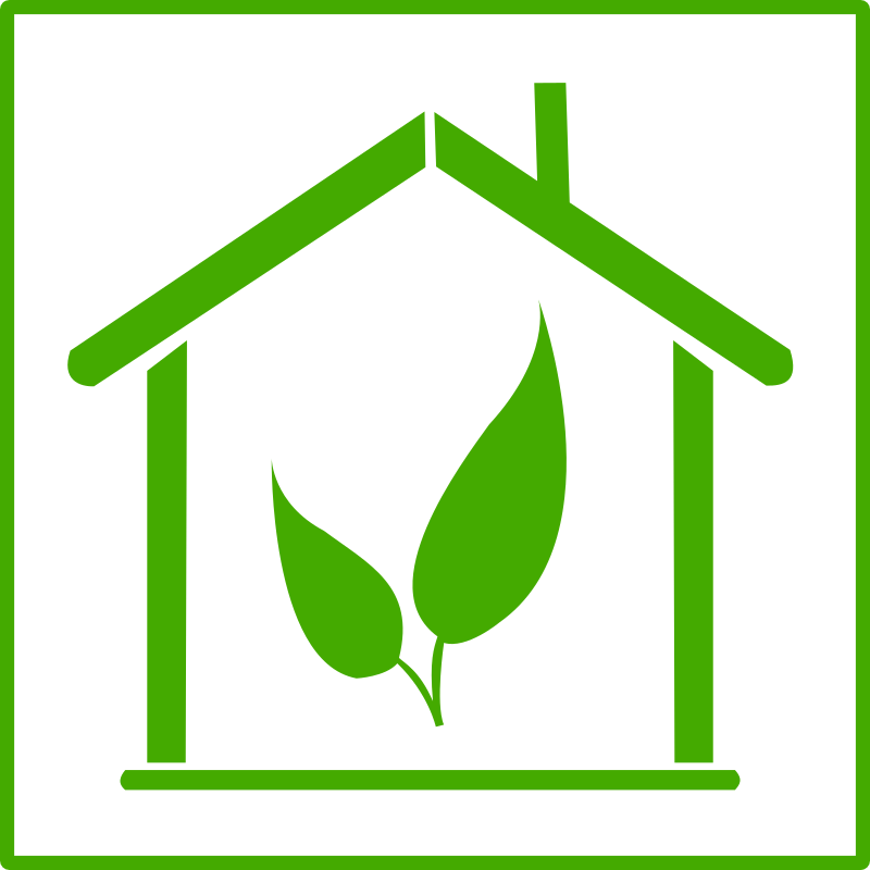 eco green house icon by dominiquechappard - eco house icon