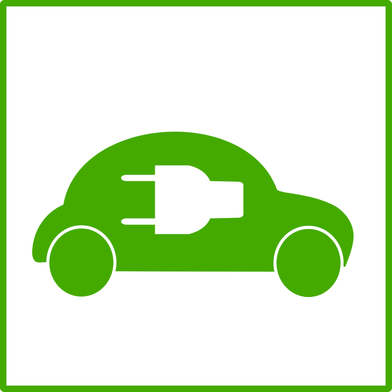 eco green car icon by dominiquechappard - electric car icon