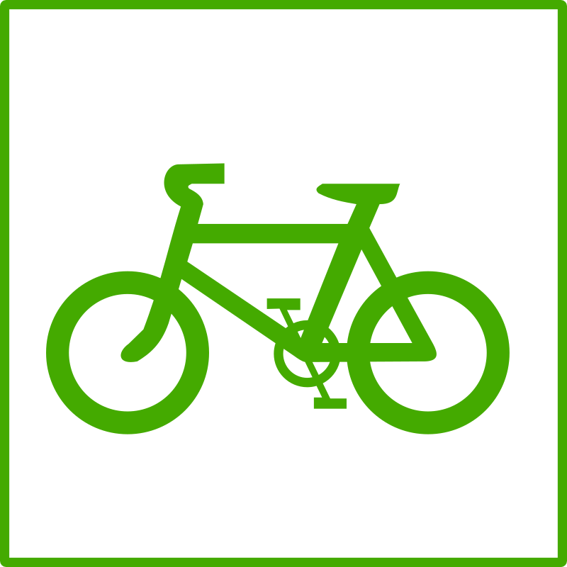 eco green bicycle icon by dominiquechappard - bicycle icon