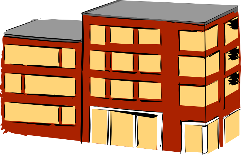 Apartment building by rdevries - Part of an apartment flat