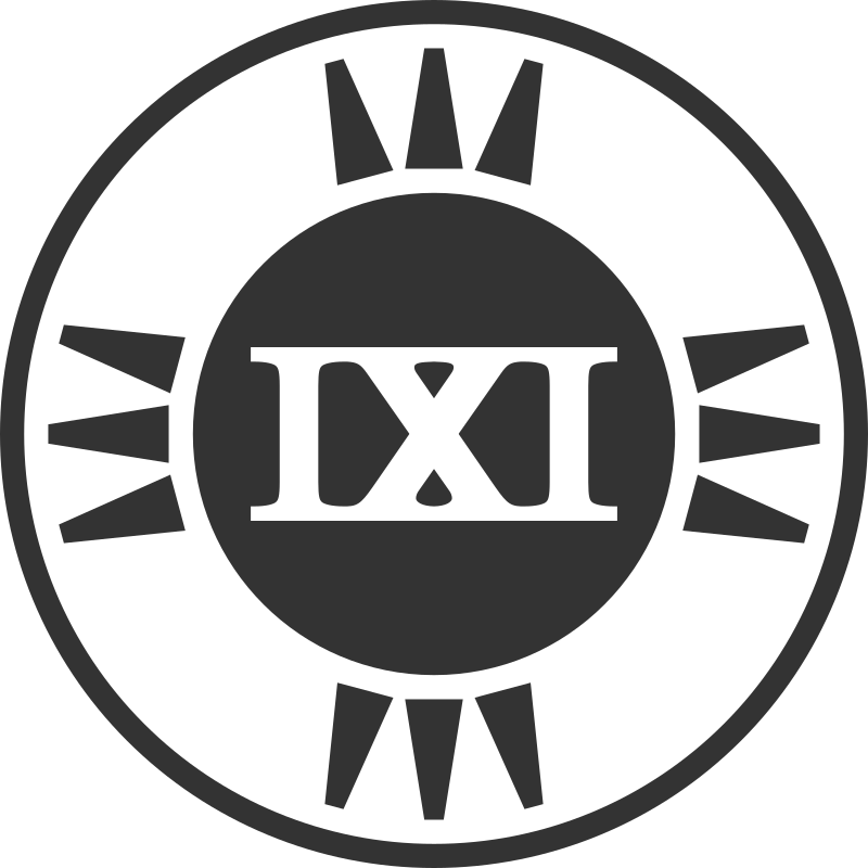 Fictional Brand Logo: IXI Variant A by qubodup