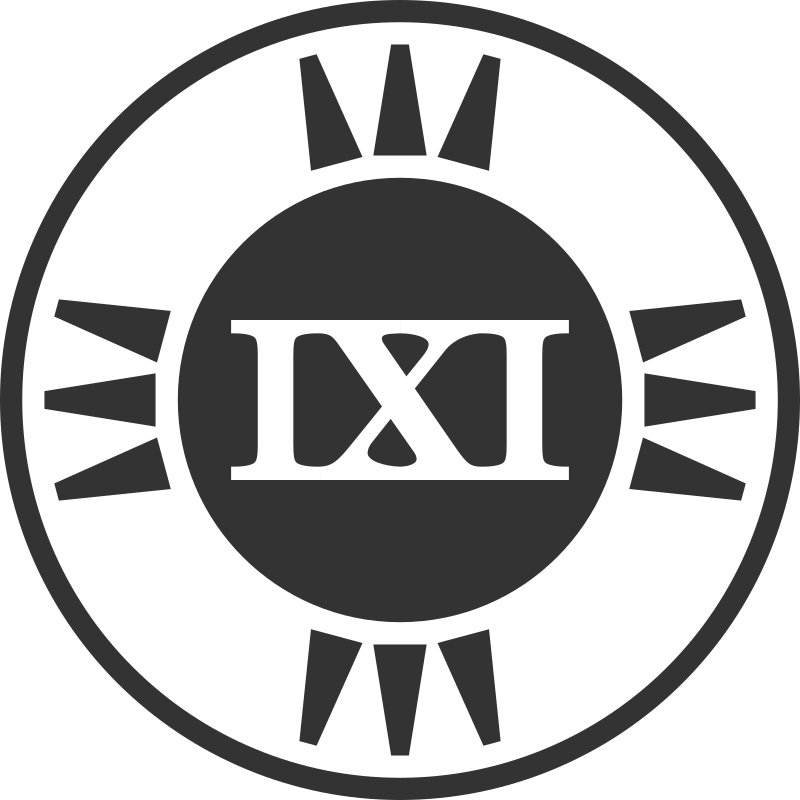 Fictional Brand Logo: IXI Variant B by qubodup - A brand logo that I invented. It or a variant might become used in trigger rally ( http://trigger-rally.sf.net )