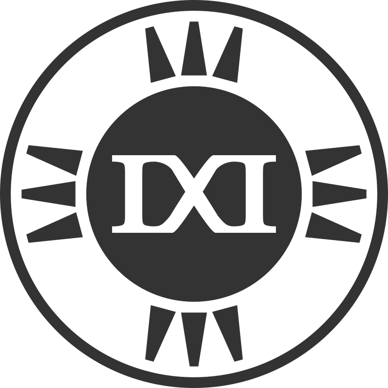 Fictional Brand Logo: IXI Variant E by qubodup - A brand logo that I invented. It or a variant might become used in trigger rally ( http://trigger-rally.sf.net )