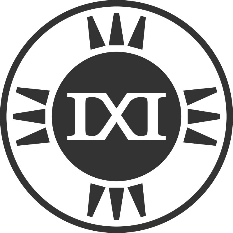 Fictional Brand Logo: IXI Variant D by qubodup