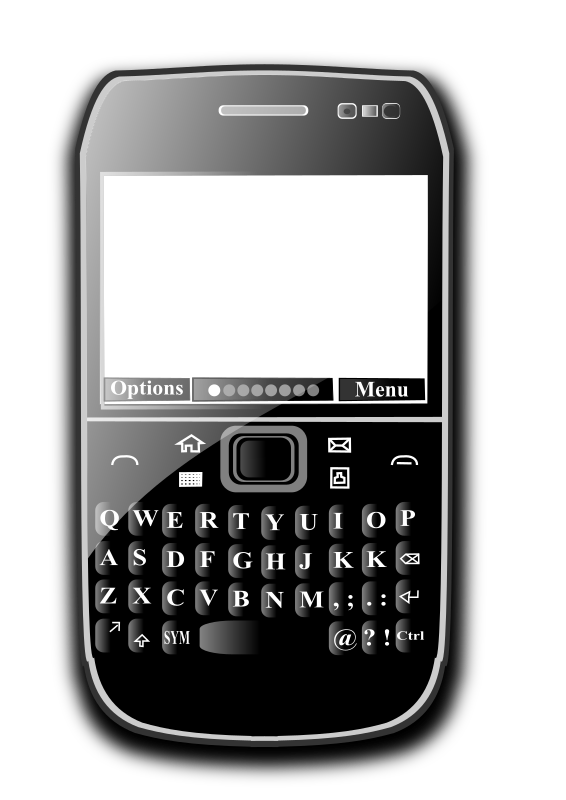 OpenClipArt on Mobile Phone by hatalar205 - A simple mobile phone clipart