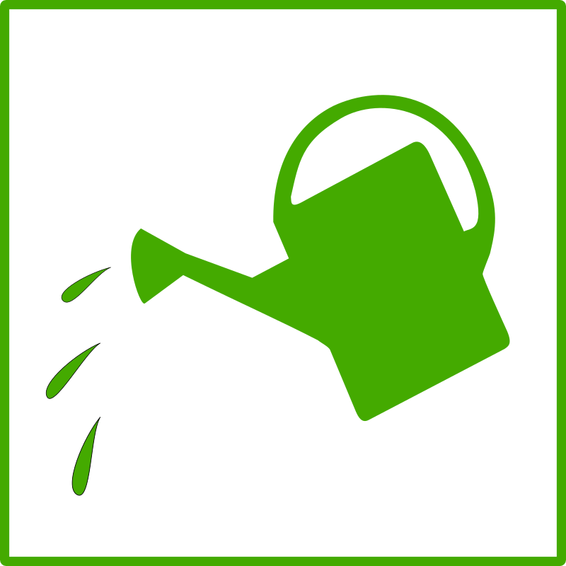 Eco green watering icon by dominiquechappard - watering icon