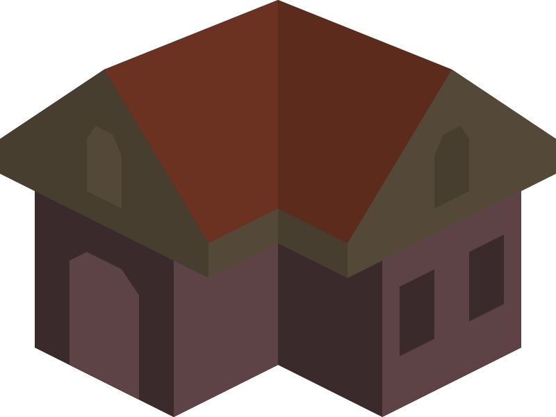 Placeholder Isometric Building Icon Colored Dark by qubodup